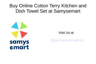 Buy Online Cotton Terry Kitchen and Dish Towel set 8 pack Checked Red.ppt
