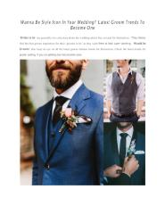 Wanna Be Style Icon In Your Wedding - Latest Groom Trends To Become One.pdf