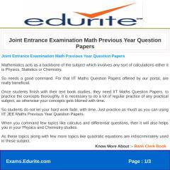 Joint Entrance Examination Math Previous Year Question Papers.pdf
