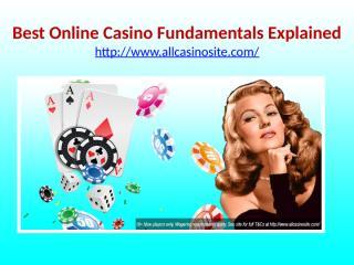 Best Online Casino Fundamentals Explained.pptx