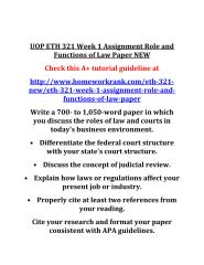 UOP_ETH_321_Week_1_Assignment_Role_and_Functions_of_Law_Paper_NEW.PDF