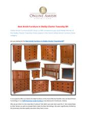 Best Amish Furniture in Shelby Charter Township MI.pdf