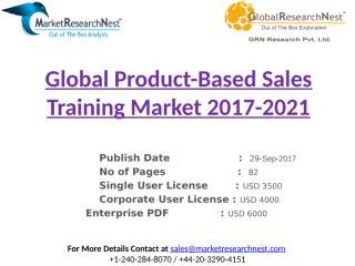 Global Product-Based Sales Training Market 2017-2021.pptx