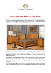 AMISH FURNITURE A QUALITY, NOT A STYLE.pdf