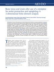 Bone stress and strain after use of a miniplate.pdf