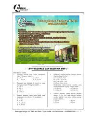 Soal Matematika SMP Phytagoras dan Segitiga.pdf