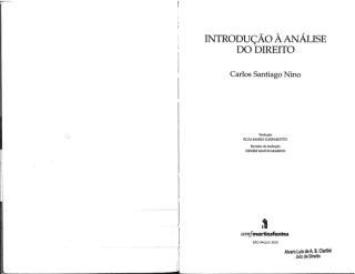 Cap.1   Introdução à Análise de Direito   NINO, Carlos Santiago (1  -  72).pdf