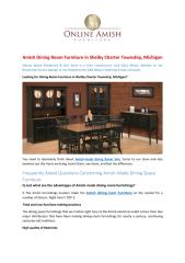 Amish Dining Room Furniture in Shelby Charter Township, Michigan.pdf