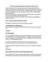 A NOVA LEI DE DIRETRIZES E BASES DA EDUCAÇÃO.doc