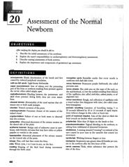 Chap. 20 Assessment of the Normal Newborn.doc