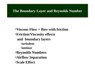 01  Boundary Layer and Reynolds Number.ppt